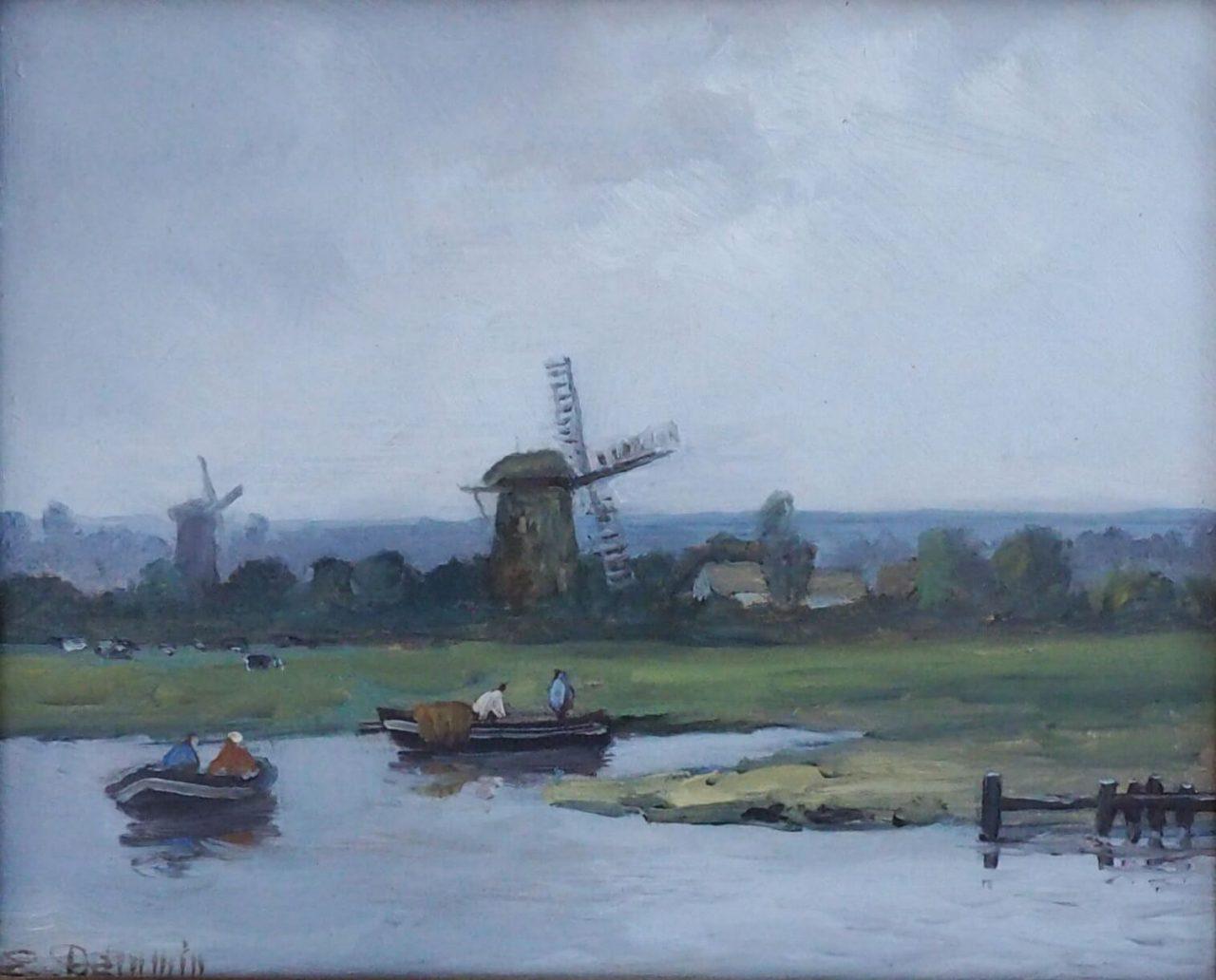 Erich Demmin - Holländische Landschaft