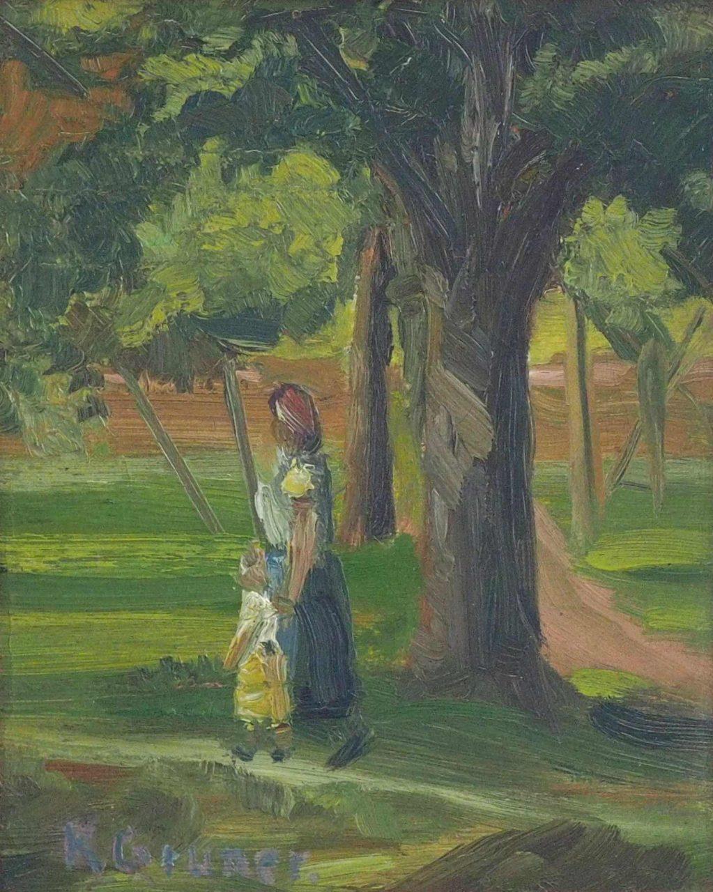 K. Gruner - Spaziergang im Park