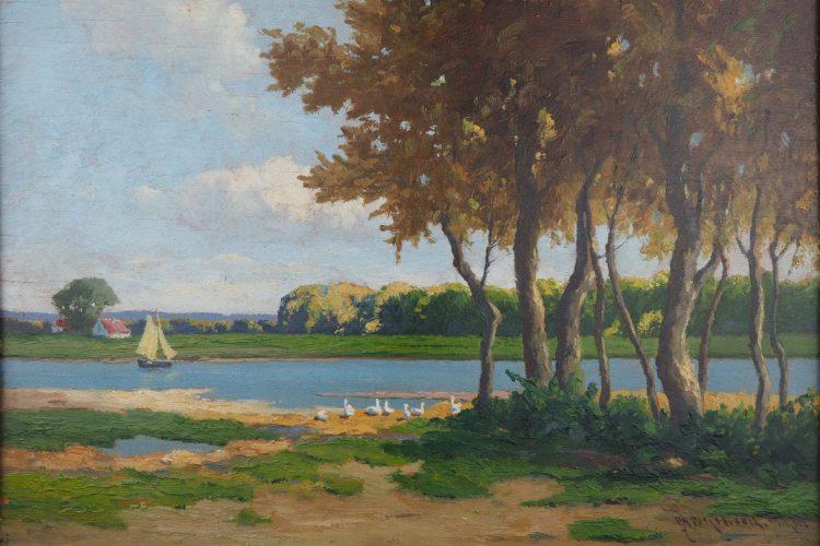 Josef Mühlbeck - Sommertag (Öl auf Holz)