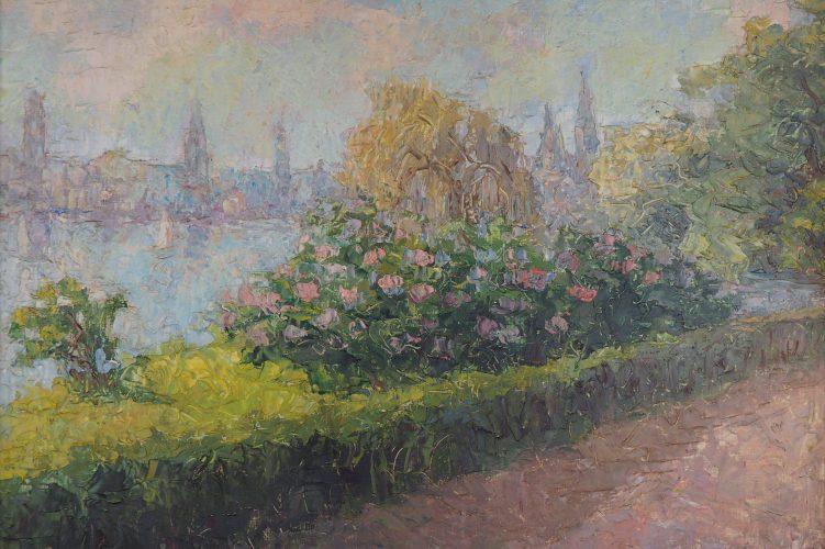 Sawizky - Gartenszene vor Flussufer