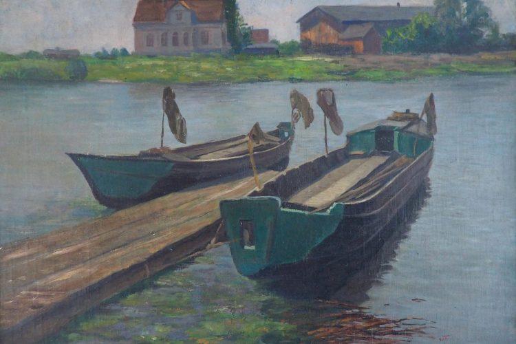 Richard Schroeter - Fischerboote am Fluss